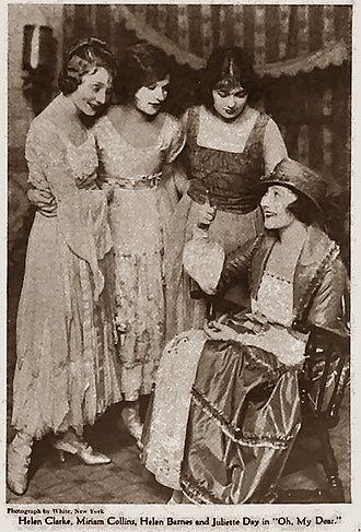 Oh, My Dear! - (L-R) Helen Clarke, Miriam Collins, Helen Barnes and Juliette Day - Green Book Magazine, 1919