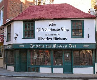 The Old Curiosity Shop in Holborn, London which inspired The Old Curiosity Shop. Many of Dickens' works do not just use London as a backdrop but are about the city and its character. OldCuriosityShop.JPG
