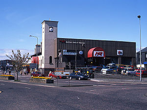 Bangor railway station (Northern Ireland) - The original Bangor station on 1 May 1999