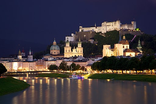 Old Town Salzburg across the Salzach river