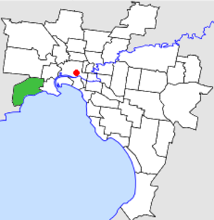 City of Altona - Location in Melbourne