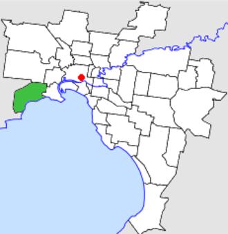 City of Altona - Location in Melbourne