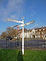 Old signpost, Southgate Green, London N14 - geograph.org.uk - 1633152.jpg