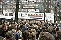Ontruiming kraakcomplex Wyers in Amsterdam actievoerders en bewoners verlaten m, Bestanddeelnr 253-8837.jpg