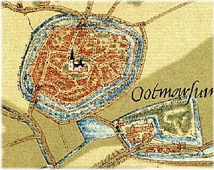 Capture of Ootmarsum - Embroidery of Ootmarsum at time of siege
