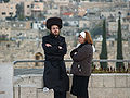 Orthodox couple on Shabbat in Jerusalem 2 by David Shankbone.jpg