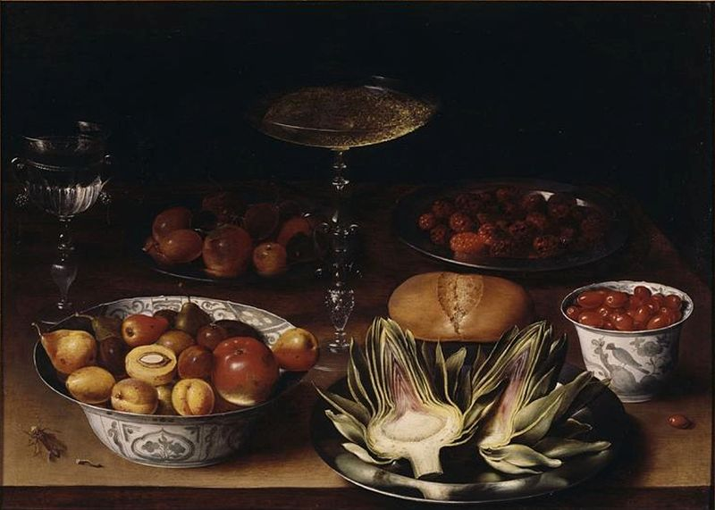 Osias Beert, Still life with Artichokes, ca. 1598-1623,  Museum of Grenoble, Grenoble, France.