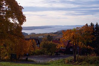 Oslofjord - Image: Oslofjord Holmenkollen 2008