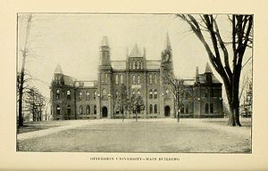 Henry Adams Thompson - Otterbein University building as it appeared in Thompson's tenure