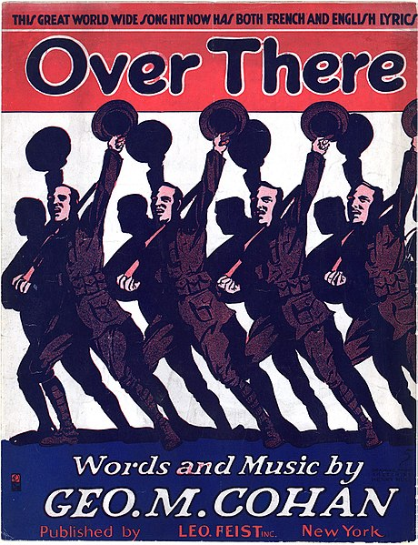 """Over There"" (sheet music). Cover, page 1 of 4."