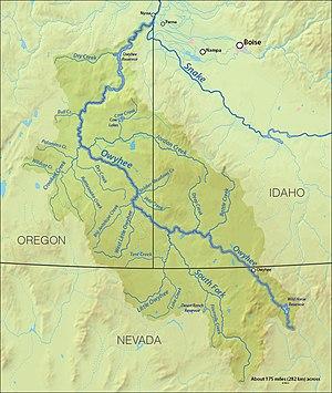 Owyhee River - Image: Owyheerivermap