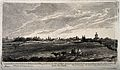 Oxford; cityscape view from the north. Etching by J. Whessel Wellcome V0014224.jpg