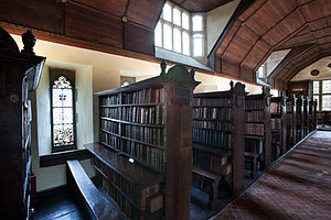 Library at Merton College, Oxford, UK