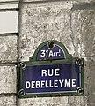 P1170988 Paris III rue Debelleyme ancien nom rwk.jpg