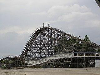 Thunder Road (roller coaster) Defunct wooden roller coaster at Carowinds