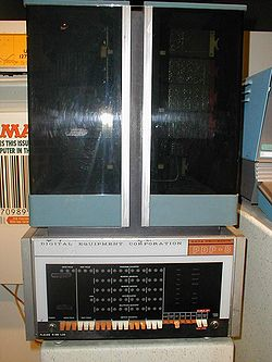 A PDP-8 on display at the Smithsonian's National Museum of American History  in Washington, D.C.. This example is from the first generation of PDP-8s,  ...