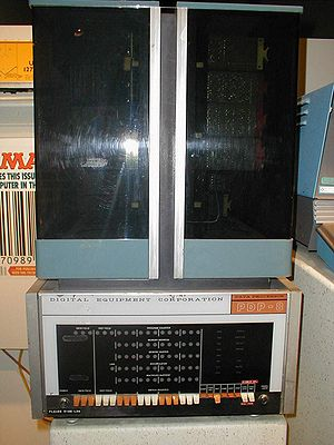 Minicomputer - First generation Digital Equipment Corporation (DEC) PDP-8 on display at the National Museum of American History