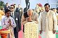 PM Modi offering prayer to Mahatma Gandhi at Gandhi Smriti in New Delhi.jpg