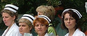 Nurse's cap - Nurses wearing their caps.