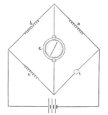 Wheatstone bridge using Thomson galvanometer
