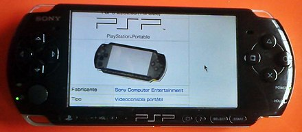 PSP 3000 navigating through Spanish Wikipedia PSP 3000 Espanol.jpg