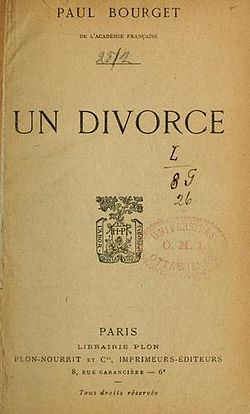 Image illustrative de l'article Un divorce