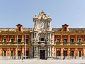 Palacio de San Telmo - Palace of San Telmo. Main façade (b. 1754).