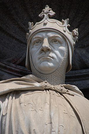 Kingdom of Albania (medieval) - Statue of Charles I of Naples at the Royal Palace. Charles established Regnum Albaniae after he conquered part the Despotate of Epirus.