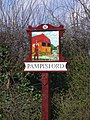 Pampisford (west end) Village Sign - geograph.org.uk - 741611.jpg