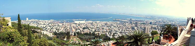 Panorama av Haifa. Sett frå Karmelberget