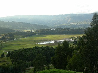 Muisca Confederation - The area around Tundama was filled with small lakes of which some bloody evidences remain