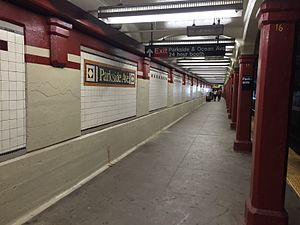 Parkside Avenue - Tunnel Section, southbound platform.jpg