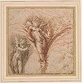 Parmigianino - Three Studies of Putti. Verso Diana and Actaeon, ca. 1523-1524.jpg