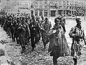 Belgrade Offensive - Yugoslav Partisans in liberated Belgrade, October 1944.