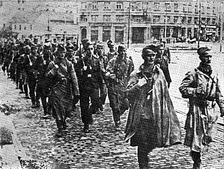 Yugoslav Partisans in liberated Belgrade, October 1944. Partizani u Beogradu.jpg