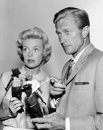Richard Denning - Denning as Michael Shayne with Patricia Donahue as Lucy Hamilton.