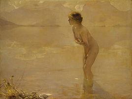 Matinée de septembre, huile sur toile de Paul Chabas (1912, Metropolitan Museum of Art). (définition réelle 6037×4546)