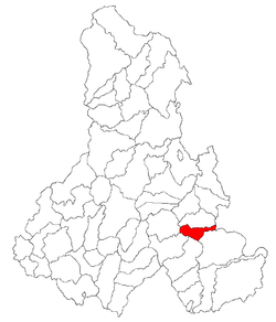 Location of Păuleni-Ciuc