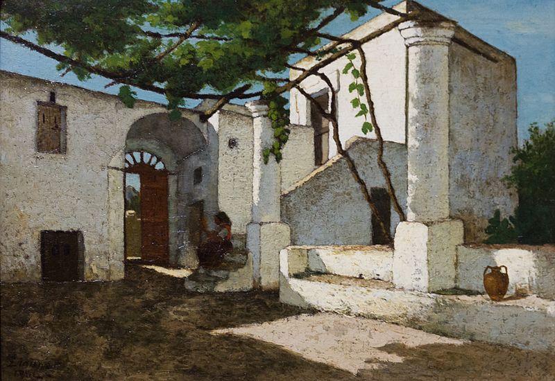file paysage cour capri 1864 f lix lionnet mus e des. Black Bedroom Furniture Sets. Home Design Ideas