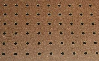 Perforated hardboard tempered hardboard