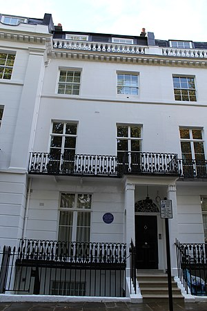 Nigel Playfair - Playfair's residence, 26 Pelham Crescent, London SW7