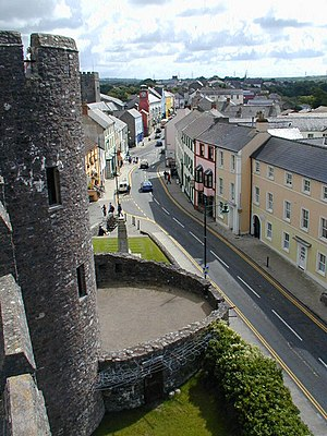 Pembroke, Pembrokeshire - Image: Pembroke Main Street from the castle