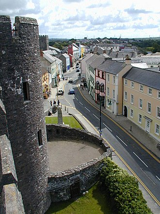 Pembroke, Pembrokeshire - Image: Pembroke Main Street from the castle