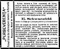 Perseverenţa, secţie de advocatură şi notariat sub conducerea d-lui E. Schwarzfeld, România Liberă, 9 feb 1885.JPG