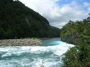 The Amazing Race 11 - The Petrohué River in Chile's Los Lagos Region was the site of this leg's Detour.
