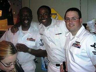 Allen Forrest - Petty Officer Forrest and Shipmates in Tampa, FL
