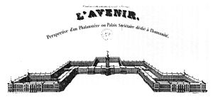 Charles Fourier - Perspective view of Fourier's Phalanstère