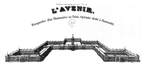 Perspective view of Fourier's Phalanstère