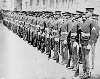 Philippine Army - Philippine Scouts in formation during the American colonial period