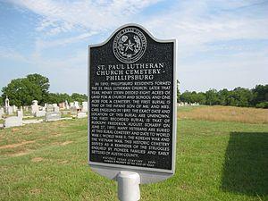 Phillipsburg, Texas - Image: Phillipsburg TX Cemetery Marker